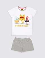 Marks and Spencer Emoji Print Short Pyjamas (7-16 Years)