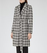 Reiss Rowan Textured Checked Coat