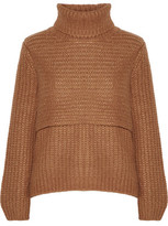 Michelle Mason Layered Ribbed-Knit Turtleneck Sweater