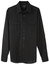 Murano Big & Tall Wardrobe Essentials Ultimate Modern Comfort Stretch Solid Roll-Sleeve Sportshirt