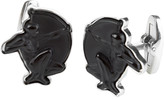 Lalique Mascots Archer Cufflinks - Black