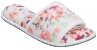 Dearfoams Women's Beatrice Microfiber Terry Slide with Quilted Vamp slippers