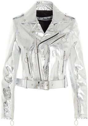 Off-White Metallic Biker Jacket