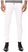 DSQUARED2 Clement Stretch Cotton Denim in White