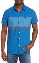 RVCA Men's Dye Block Woven Shirt
