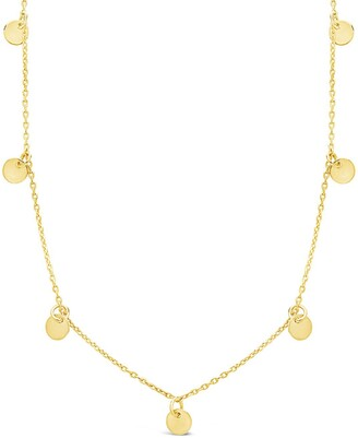 Sterling Forever 14K Gold Plated Sterling Silver Disk Charm Necklace