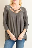 Entro Strappy Olive Top