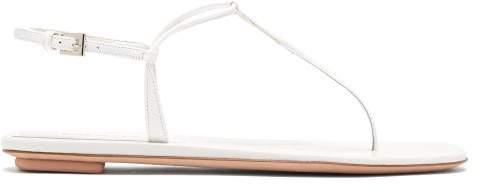 Prada Patent Leather Sandals - Womens - White