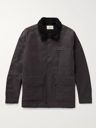 Folk Alber Fleece-Trimmed Cotton-Canvas Jacket