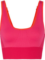 adidas by Stella McCartney The Seamless Color-block Stretch Sports Bra - Pink