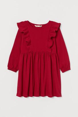 H&M Flounce-trimmed jersey dress
