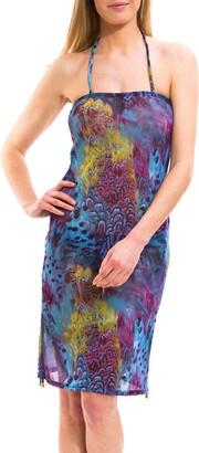 Kiniki Amalfi Blue Tan Through Beach Dress Cover Up Accessory