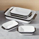 Crate & Barrel KitchenAid ® 5-Piece Black Ceramic Baking Dish Set