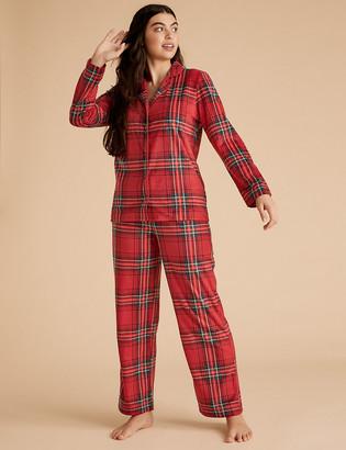 Marks and Spencer Fleece Checked Pyjama Set