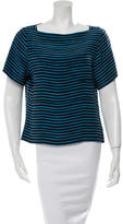 Marc Jacobs Silk Striped Top