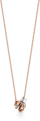 Tiffany & Co. Return to TiffanyTM Love Bugs ladybug pendant in rose gold and sterilng silver