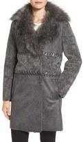 Elie Tahari Women's Veronica Faux Fur Trim Jacket