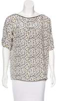 Yigal Azrouel Printed Silk Top w/ Tags