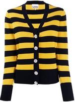 Ganni block stripe cardigan