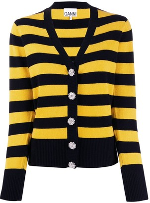 Ganni Block Stripe Cardigan