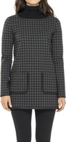 Max Studio Plaid Doubleknit Tunic With Contrast Binding