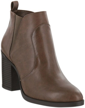 Mia Rounded-Toe Ankle Booties - Halle-D