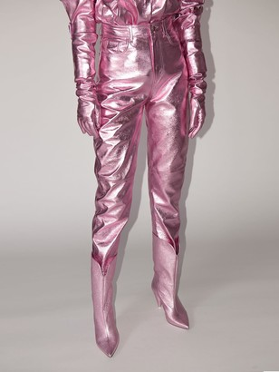 Lvr Exclusive Lame Leather Pants