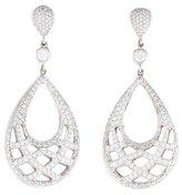 Kwiat 18K Diamond Jacquard Drop Earrings
