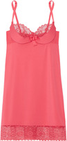 Cosabella Q of Diamonds lace-trimmed stretch-jersey chemise