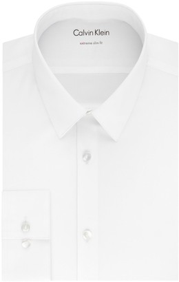 Calvin Klein Extra-Slim Fit Solid Dress Shirt