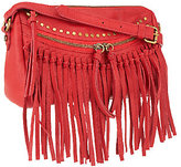 As Is Joelle Hawkens by Treesje Leather Metro Fringe Crossbody