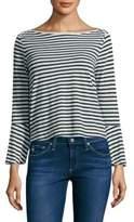 Splendid Striped Bell-Sleeve Top