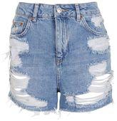 Petite ripped mom shorts