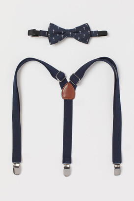 H&M Suspenders and Bow Tie
