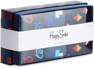 Happy Socks Men's Pretzel Socks, Set of 3