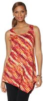 Slinky Brand Printed Sleeveless Tunic with Pointed Hem