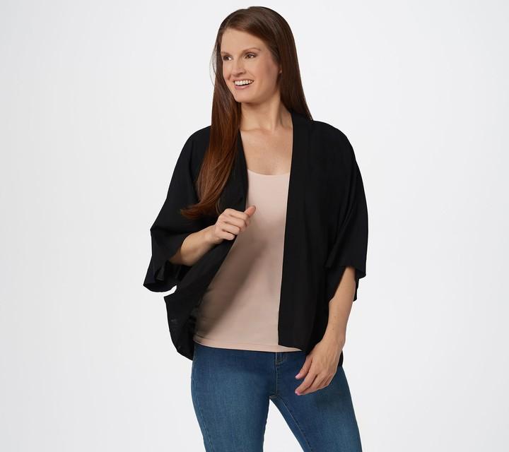 ced2848023 Black Kimono Sweater - ShopStyle