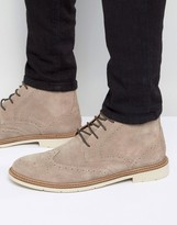 Tommy Hilfiger Metro Suede Lace Up Brogue Boots