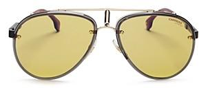 Carrera Women's Glory Mirrored Brow Bar Aviator Sunglasses, 58mm