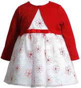 Youngland Baby Girl Floral Dress & Shrug Set