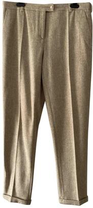 Nicole Farhi Beige Wool Trousers for Women