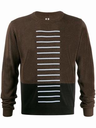 Rick Owens colour-block fine knit jumper