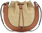 Loewe Horseshoe Small suede shoulder bag
