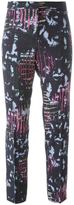 Versace abstract print trousers - women - Spandex/Elastane/Rayon/Viscose - 42