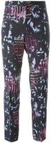 Versace abstract print trousers - women - Viscose/Rayon/Spandex/Elastane - 40