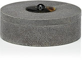 Ginger Brown Shagreen Small Round Box