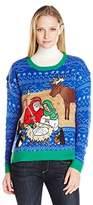 Blizzard Bay Women's Jesus Manger LED Light-Up Ugly Christmas Sweater