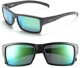 Smith Optics Women's 'Outlier' 56Mm Polarized Sunglasses - Matte Black/ Polar Green Sol