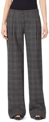 Michael Kors Glendplaid Stretch-Flannel Wide-Leg Pants