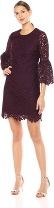 Shoshanna Women's Laureston Long Sleeve A- Line Dress